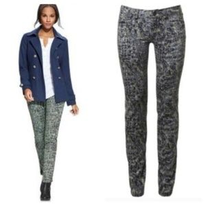 CAbi Modern Camo Skinny Low Rise Jeans 2
